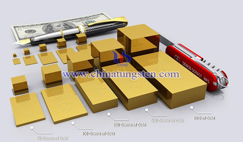 Gold Size Chart Tungsten Gold Manufacturer And Supplier